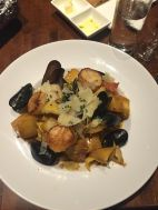 Anniversary Dinner at VU downtown Jersey City Scallops and Muscles